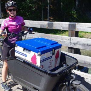Anreise mit der Eisbox, Sophie Waldmann Bildungsreferentin Biosphärenpark