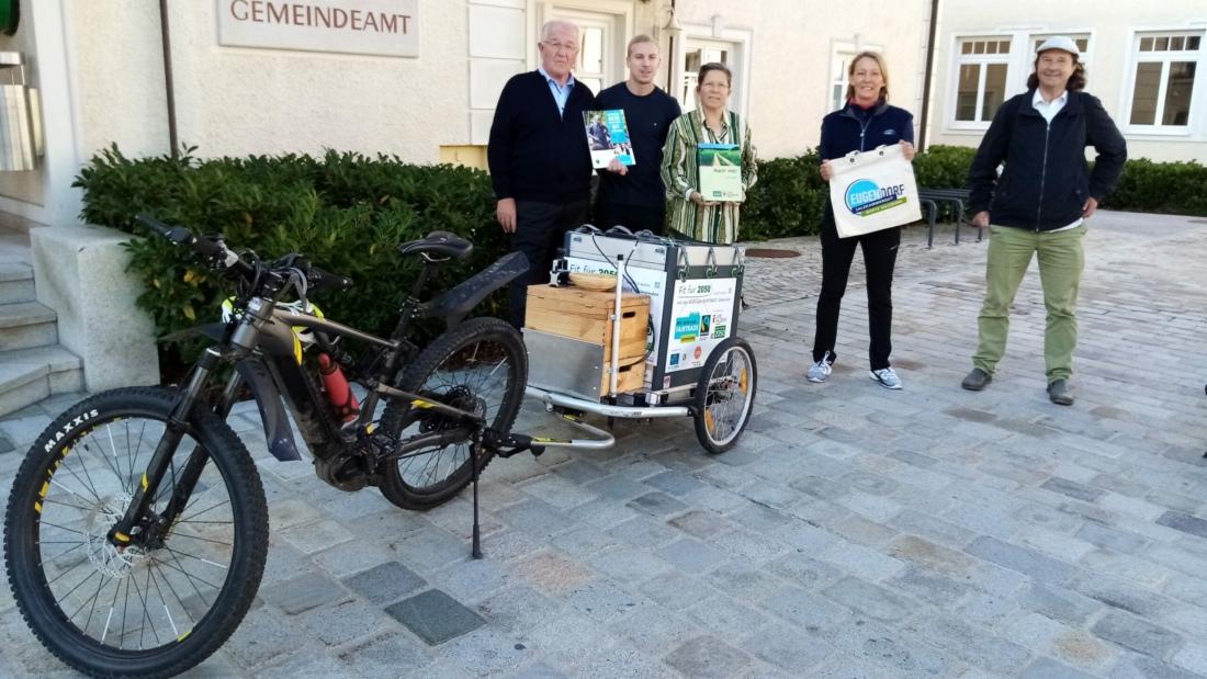 Fit-für-2050 Radtour 2021 Stopp in Eugendorf